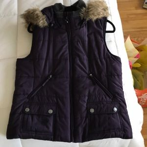 Coldwater Creek purple vest with good